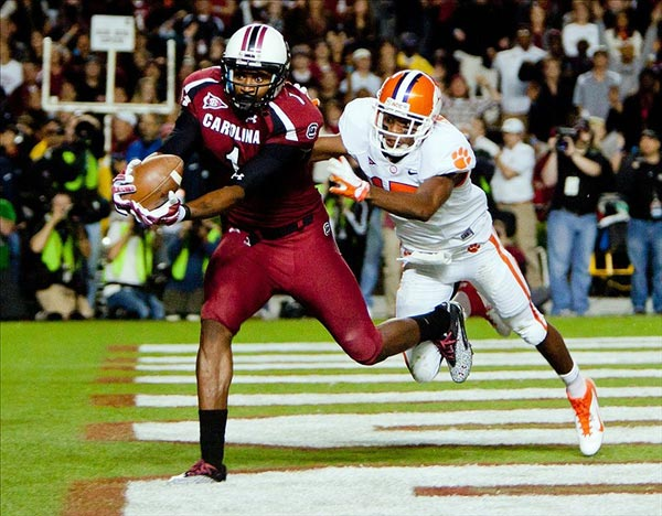 A conference affiliation and better players have led to a fundamental shift in the South Carolina-Clemson rivalry, and more moments like this.