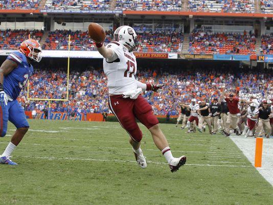 """Hey guys! Guys! Check it out, I scored a rushing touchdown!"" (Photo: wltx.com)"