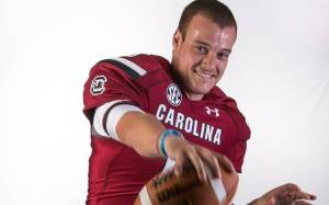 Your starting quarterback. Now go do something productive with your lives. (Photo: The State)